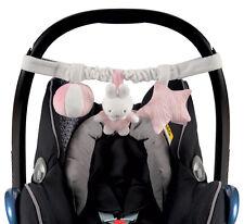 Tiamo Hase MIffy rosa Spielkette für den Autositz Maxi Cosi Kinderwagen 765936