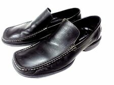 BOSTONIAN SLIP ON LOAFERS BLACK LEATHER 9 M COMFORT MENS DRIVING SHOES