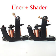 2pcs Professional Big U Handmade Tattoo Machine Gun Carbon Steel Liner Shader US