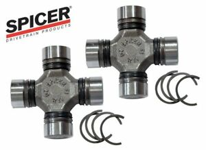 SET of 2 Universal Joints DANA Spicer 5-760X FRONT U-Joints 93-12 JEEP WRANGLER