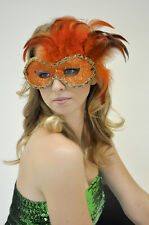 Mardi Gras Mask! Theater! Costume! Masquerade Mask w/ Feathers