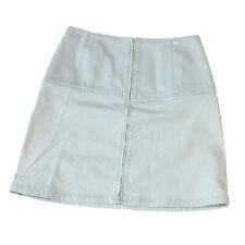 Authentic CHANEL BOUTIQUE Zipper Aline Skirt #38 Denim Blue Italy 04P 01R899