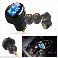 Car Autos Wireless  TPMS Tire Pressure Monitoring LED Display 4 External Sensors