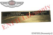 BRASS CHASSIS CONTRACT NUMBER DATA PLATE WITHOUT TEXT FORD JEEP TRUCK @UK