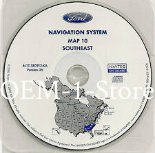 03 2004 2005 FORD EXPEDITION NAVIGATION MAP DISC CD 10 SOUTHEAST AL GA NC SC 3V