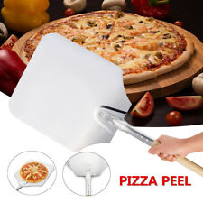 12x35'' Aluminum Restaurant Pizza Peel Wood Handle Bakers Oven Paddle Tray Tool