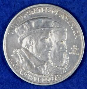 1924 50c Huguenot-Walloon Tercentenary Commemorative Silver Half Dollar Coin