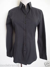 Business Stretch Bluse BENETTON Hemdbluse ca XS S 34 schwarz TIP TOP/C1