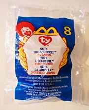 VTG ©1993 TY TEENIE BEANIE BABIES ©1999 McDONALDS #8 NUTS SQUIRREL - NIP RETIRED