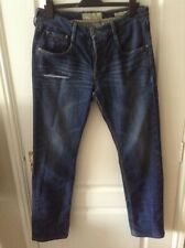 Guess Vermont Tapered ripped button fly jeans 34 waist 32 leg stretch cottonpoly