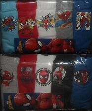 5 x Pairs of SPIDER-MAN Boys 100% Cotton BRIEFS/PANTS Sizes 2 - 8 Years