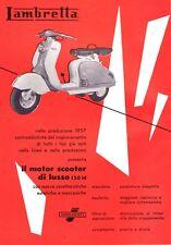 PUBBLICITA 1957 LAMBRETTA INNOCENTI 150 LD MOTOR SCOOTER MOTO MOTOCICLISMO