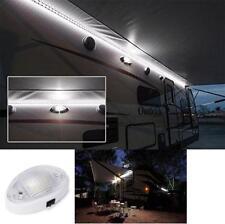 LED Light Fixture 12V RV Trailer Camper Boat Indoor Outdoor Switch Removable Len
