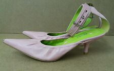Bronx Pink Party Shoes Size 4 Pointed Heels <J2924