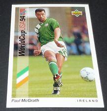 McGRATH ASTON VILLA IRELAND EIRE FOOTBALL CARD UPPER DECK USA 94 PANINI 1994