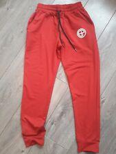 Mens red slim fit jogging bottoms