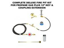 "COMPLETE DELUXE PROPANE FIRE PIT KIT WITH 12"" KEY EXTENSION – ALL EXCEPT BURNER"