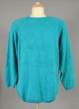 Teal Blue Keyhole Adrian Jordan Womens Plus Size 22/24 Sweater X425B