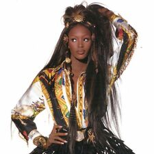GIANNI VERSACE Native Americans silk shirt w/ beaded fringe worn Naomi Campbell