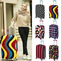 """18""""-28"""" colorful Elastic Luggage Travel Bag Suit cases Protector Cover Dustproof"""