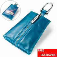 Women Leather Car KeyChain Key Holder Ring Zip Wallet Organizer Bag Keyring Case