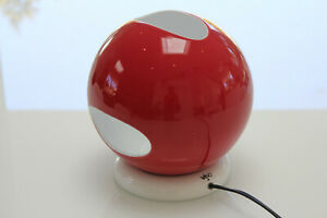 VISO Italian Lamps, Mid Century Modern 60s 70s Design, Space Age Orb Table Lamp