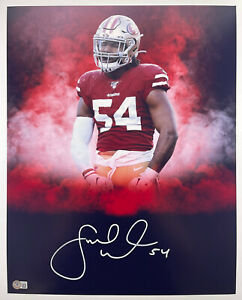 49ERS FRED WARNER SIGNED 16x20 PHOTO AUTHENTIC BECKETT BAS WITNESS COA #WL93814