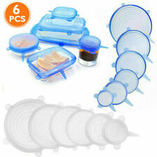 6pcs/set Silicone Food Lid Stretch Cover Storage  Universal Seal Reusable Bowl