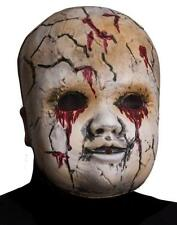 Creepy Doll Face Mask Scary Fancy Dress Up Halloween Adult Costume Accessory