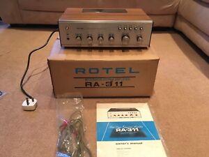 1970s Vintage Retro Hifi Separates Rotel RA-311 Amp Amplifier Original BoxManual