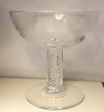 Vintage Steuben Crystal Air Twist Champagne Wine Glass Coupe