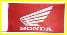 HONDA MOTOS FLAG BANNER  RED gold wing st1300 super hawk 5 X 2.45 FT 150 X 75 CM
