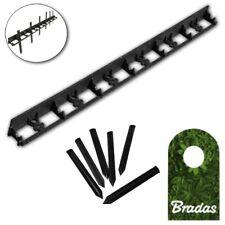 3 3/12ft Lawn Edge Garden Bed Border Flowerbed PVC 0 3/16in+6 Ground Anchor