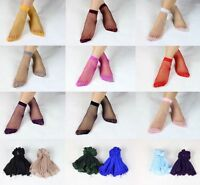 10pairs Women's Ultra Thin Ankle Socks Transparent Short Silk Stockings