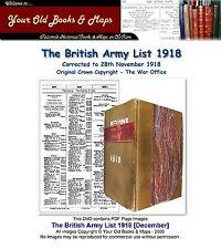 British Army List 1918 WW1 DVD