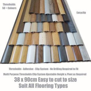Threshold Strip transition trim for flooring door bar cover 38mm x 90cm Adhesive