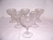 American Fostoria Crystal 8 HexFt Pedestal Champagne Sherbert 2056 Glass Stemwar