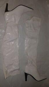 Sexy Stiefel/ Overknee , Gr. 39, weiß.Liebhaber, Sammler ??, wenig getragen GOGO