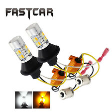 2X 1156 BA15S Led Switchback Dual Color White/Amber 5730 20SMD Turn Signal Light