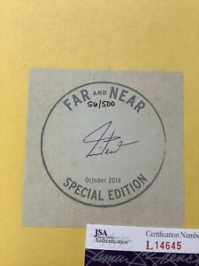 Neil Peart Signed Book Far And Near Hardcover LE 56/500 JSA Rush Autograph Snake