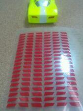 Velochamp2  RED TAIL LIGHTS sticker body mask ho 1/64 bsrt viper tyco lexan