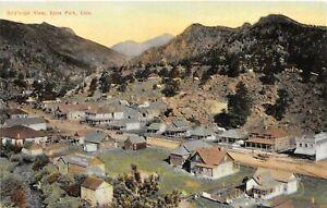 H72/ Estes Park Colorado Postcard c1910 Birdseye Homes Store Hotel  119