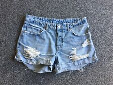 H&M DISTRESSED DENIM SHORTS - Uk Size 10