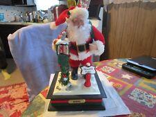 Vintage Holiday Creations Musical Santa At Mailbox At The North Pole 1993 Works