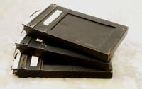 2 1/4 x 3 1/4 Graphic Film Holders Wood/Metal Type 5  Set of 3