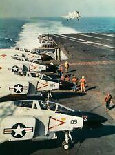 "US NAVY VF-102 F-4B PHANTOM - ORIGINAL McDONNELL 10"" x 7"" COLOUR PUBLICITY PHOTO"