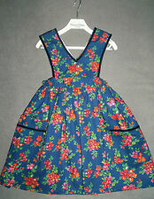 Patrizia Wigan Designer Fully Lined Liberty Print Pinafore Dress Age 3 Years New