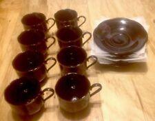 8 Mikasa Tango Pattern Cups & Saucers