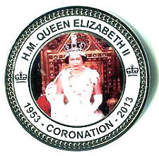 HM Queen Elizabeth II Coronation 1953 - 2013 Collectors Coin In Plastic Pouch