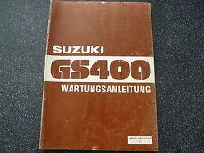 SUZUKI GS 400 Manual De Operación